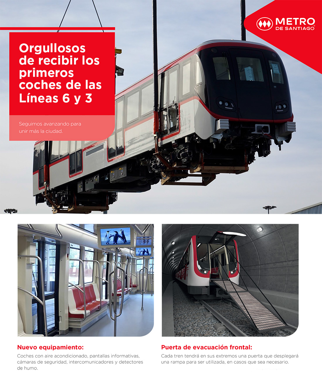 Alamys Nuevos Trenes Para Las Lineas 6 Y 3 De Metro De Santiago Ya Estan En Chile